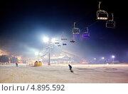 Купить «Горнолыжный курорт. Буковель. Украина», фото № 4895592, снято 19 декабря 2012 г. (c) Никончук Алексей / Фотобанк Лори