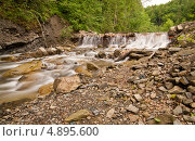 Купить «Плотина на лесной речке», фото № 4895600, снято 17 мая 2009 г. (c) Никончук Алексей / Фотобанк Лори