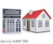 Купить «Маленький дом и калькулятор», иллюстрация № 4897700 (c) Кирилл Черезов / Фотобанк Лори