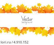 Купить «Фон из желтых осенних листьев с местом для текста», иллюстрация № 4910152 (c) Евгения Малахова / Фотобанк Лори
