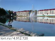 Городское озеро, Зеленодольск, Татарстан (2013 год). Редакционное фото, фотограф Александр Журавлев / Фотобанк Лори