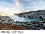 Вулкан Иджин, о. Ява, Индонезия. Стоковое фото, фотограф Оксана Чорная / Фотобанк Лори