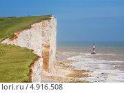 Купить «Бичи-Хед. Высочайшая меловая скала (скала самоубийц). Восточный Сассекс, Англия», фото № 4916508, снято 15 июня 2013 г. (c) Andrei Nekrassov / Фотобанк Лори