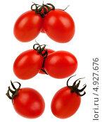 Красные спелые помидоры на белом фоне. Стоковое фото, фотограф Сергей Видинеев / Фотобанк Лори