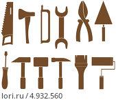 Купить «Набор различных инструментов для ремонта на белом фоне», иллюстрация № 4932560 (c) Александр Галата / Фотобанк Лори