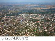 Купить «Город Ишимбай, Башкирия, вид сверху», фото № 4933872, снято 24 июля 2013 г. (c) Владимир Мельников / Фотобанк Лори