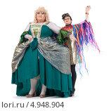 Купить «Два актера травести в женских образах», фото № 4948904, снято 11 августа 2013 г. (c) Discovod / Фотобанк Лори