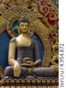 Купить «Статуя Будды в Непале», фото № 4954872, снято 27 апреля 2013 г. (c) Александр Давыдов / Фотобанк Лори
