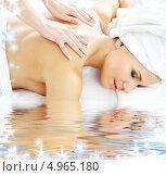 Купить «Девушка на сеансе профессионального массажа спины», фото № 4965180, снято 8 сентября 2006 г. (c) Syda Productions / Фотобанк Лори