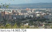 Купить «Город Красноярск. Вид с Караульной сопки», видеоролик № 4965724, снято 14 августа 2013 г. (c) Ирина Егорова / Фотобанк Лори