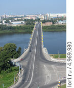 Канавинский мост через Оку в Нижнем Новгороде (2013 год). Редакционное фото, фотограф Сергей Чесноков / Фотобанк Лори