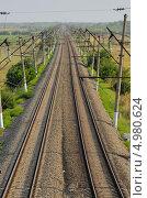Электрифицированная железная дорога. Стоковое фото, фотограф Михаил Бессмертный / Фотобанк Лори