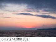 Купить «Вечернее небо над Чёрным морем», фото № 4988832, снято 8 июля 2013 г. (c) Николай Мухорин / Фотобанк Лори