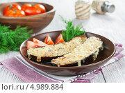 Купить «Баклажаны с мясной начинкой  и сыром», фото № 4989884, снято 21 августа 2013 г. (c) Надежда Мишкова / Фотобанк Лори