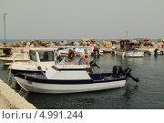 Купить «Причал на острове Закинтос (Греция)», фото № 4991244, снято 29 мая 2013 г. (c) Хименков Николай / Фотобанк Лори
