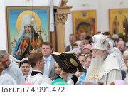 Купить «Жуковский, великое освящение Преображенского храма», эксклюзивное фото № 4991472, снято 19 августа 2013 г. (c) Дмитрий Неумоин / Фотобанк Лори