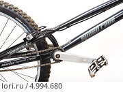 Система тормозов велосипеда, педальный узел (2011 год). Редакционное фото, фотограф Ilya Tikhanovsky / Фотобанк Лори