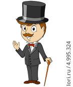 Купить «Джентльмен в циллиндре», иллюстрация № 4995324 (c) Алексей Зайцев / Фотобанк Лори