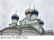 Купить «Купола Свято-Николаевского кафедрального собора. Бобруйск», фото № 5025712, снято 30 августа 2013 г. (c) Victoria Demidova / Фотобанк Лори