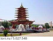 Купить «Пагода семи дней. Элиста. Калмыкия», фото № 5027548, снято 1 июля 2013 г. (c) Евгений Ткачёв / Фотобанк Лори