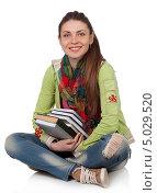 Девушка студентка с книгами. Стоковое фото, фотограф Наталья Алексахина / Фотобанк Лори