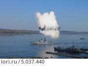 Купить «Показательное выступление на день ВМФ. Североморск», фото № 5037440, снято 28 июля 2013 г. (c) Иван Тимофеев / Фотобанк Лори