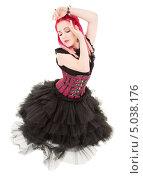 Купить «Неформальная девушка с розовыми волосами», фото № 5038176, снято 15 ноября 2008 г. (c) Syda Productions / Фотобанк Лори