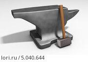 Молот и наковальня. Стоковая иллюстрация, иллюстратор Руслан Багаутдиинов / Фотобанк Лори