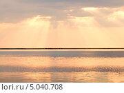 Закат на Азовском море. Стоковое фото, фотограф Виктория Кириллова / Фотобанк Лори