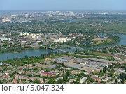 Купить «Город Краснодар, вид сверху», фото № 5047324, снято 8 мая 2013 г. (c) Виктор Затолокин/Victor Zatolokin / Фотобанк Лори