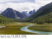 Купить «Алтай. Долина реки Шавла», эксклюзивное фото № 5051376, снято 22 августа 2013 г. (c) Gagara / Фотобанк Лори