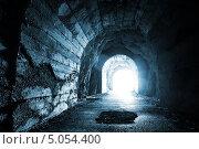 Купить «Светящийся выход из темного туннеля», фото № 5054400, снято 28 июня 2013 г. (c) EugeneSergeev / Фотобанк Лори