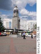 Красноярский Биг-бен (2010 год). Редакционное фото, фотограф Алексей Леонтьев / Фотобанк Лори