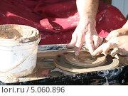 Купить «Гончарное ремесло», фото № 5060896, снято 24 августа 2013 г. (c) Галина Беззубова / Фотобанк Лори