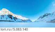 Зимняя панорама озера Fedaia. Трентино, Италия. Стоковое фото, фотограф Юрий Брыкайло / Фотобанк Лори