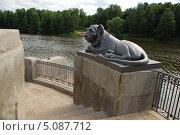"""Купить «""""Пристань двуухих львов"""", Верхний Кузьминский пруд, Кузьминский лесопарк, Москва», эксклюзивное фото № 5087712, снято 4 июля 2009 г. (c) lana1501 / Фотобанк Лори"""