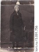 Купить «Портрет девушки, старая фотография, 1928 год», фото № 5091756, снято 27 января 2020 г. (c) Илюхина Наталья / Фотобанк Лори