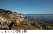 Купить «Побережье Черного моря в Крыму, Tarhan Qut», видеоролик № 5099548, снято 8 августа 2013 г. (c) Анатолий Типляшин / Фотобанк Лори