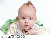 Младенец на животе. Стоковое фото, фотограф Сергей Васильев / Фотобанк Лори