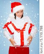 Купить «Счастливая девушка приготовила подарки к Новому году», фото № 5110788, снято 15 августа 2013 г. (c) Syda Productions / Фотобанк Лори