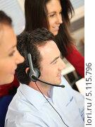 Купить «Оператор в офисе», фото № 5115796, снято 12 февраля 2010 г. (c) Phovoir Images / Фотобанк Лори