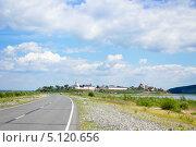 Дорога к острову Свияжск (2012 год). Стоковое фото, фотограф Ольга Корбут / Фотобанк Лори