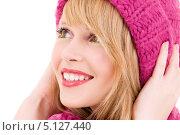 Купить «Портрет красивой молодой женщина с нежными чертами лица», фото № 5127440, снято 7 марта 2009 г. (c) Syda Productions / Фотобанк Лори