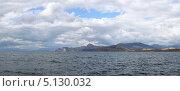 Купить «Вид на горы Алчак и Сокол. Судак. Крым», фото № 5130032, снято 5 сентября 2013 г. (c) Denis Kh. / Фотобанк Лори