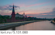 Восход солнца над Кремлем в Москве, таймлапс (2013 год). Стоковое видео, видеограф Филипп Яндашевский / Фотобанк Лори