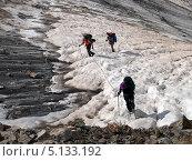 В связке по леднику (2013 год). Редакционное фото, фотограф LittleAs / Фотобанк Лори