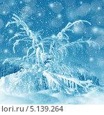 Купить «Сказочная зимняя картинка», фото № 5139264, снято 3 марта 2013 г. (c) ElenArt / Фотобанк Лори