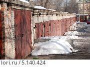 Купить «Гаражи на улице Проспект Мира, Москва», эксклюзивное фото № 5140424, снято 11 марта 2011 г. (c) lana1501 / Фотобанк Лори
