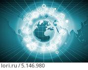 Купить «планета Земля к окружении иконок мобильных приложений», фото № 5146980, снято 29 февраля 2020 г. (c) Sergey Nivens / Фотобанк Лори