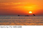 Закат на черноморском побережье (2012 год). Стоковое фото, фотограф Мария Деркунская / Фотобанк Лори